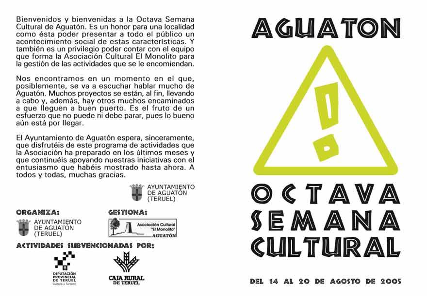 La octava Semana Cultural de Aguatón se dedica al vino